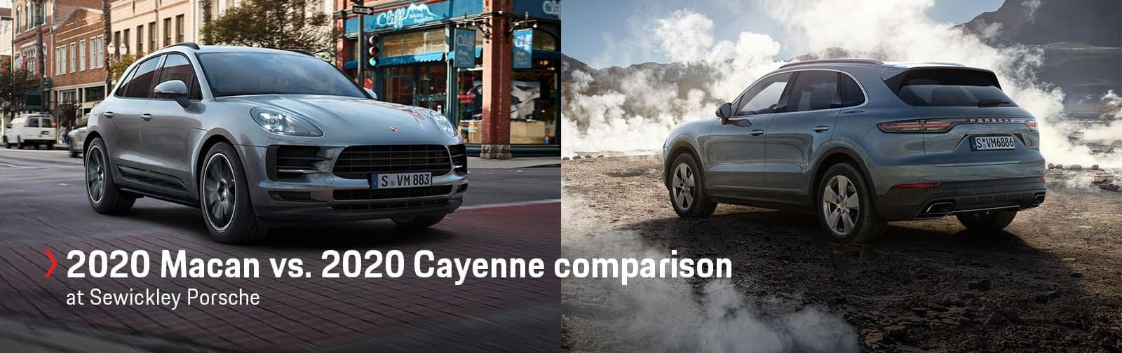 2020 Porsche Macan vs. 2020 Porsche Cayenne at Sewickley Porsche