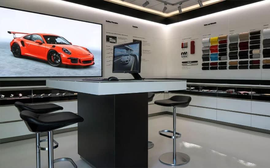 Porsche Fitting Lounge
