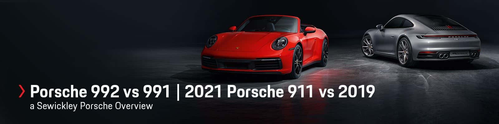 2021 Porsche 911 (992) vs 2019 Porsche 911 (991) at Sewickley Porsche