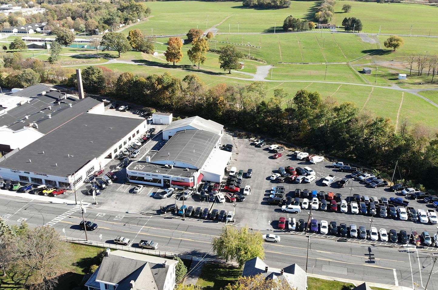 aerial photo of shippensburg location