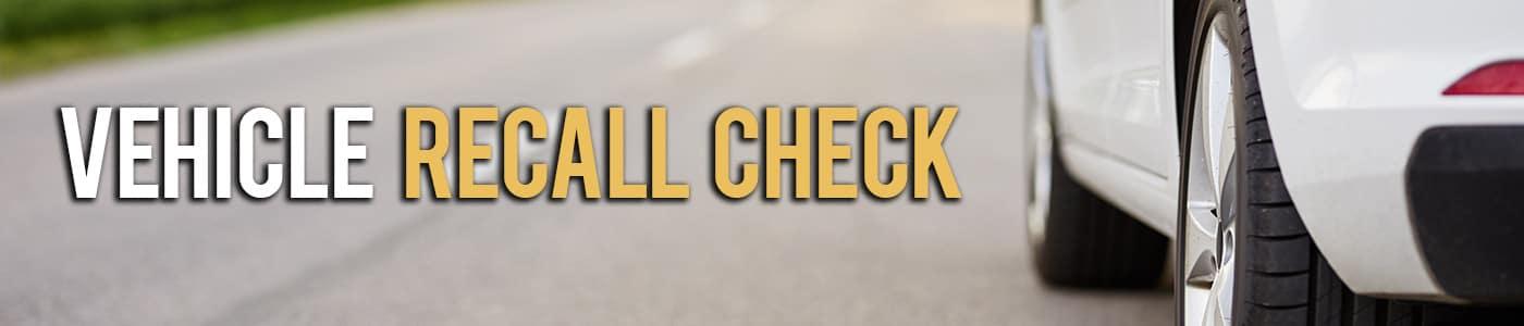 Vehicle Recall Check
