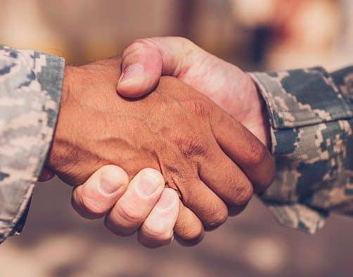 Military Handshake