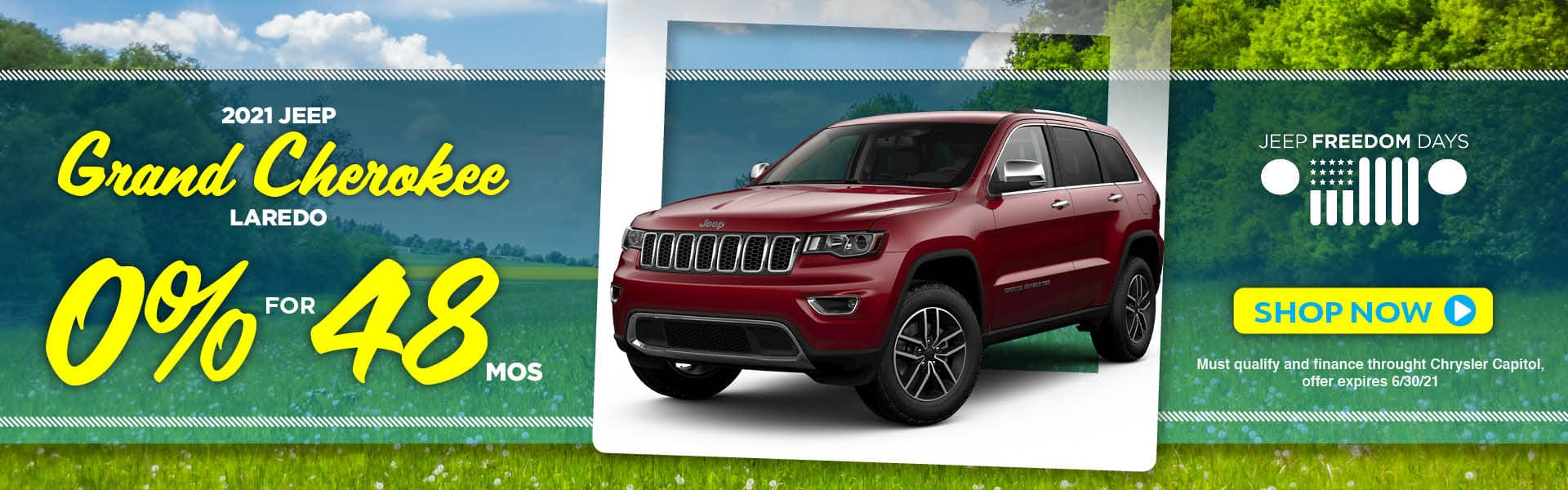 2021 Jeep Grand Cherokee Laredo 0% for 48 Months