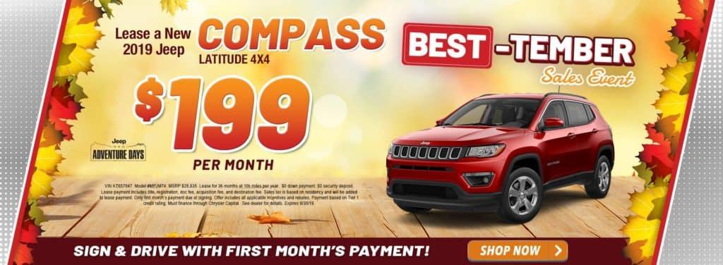 New 2019 Jeep Compass Latitude 4x4