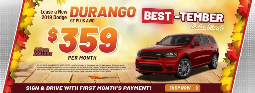 New 2019 Dodge Durango SXT Plus AWD