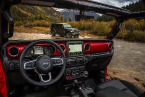 Interior of used 2019 Jeep Wrangler