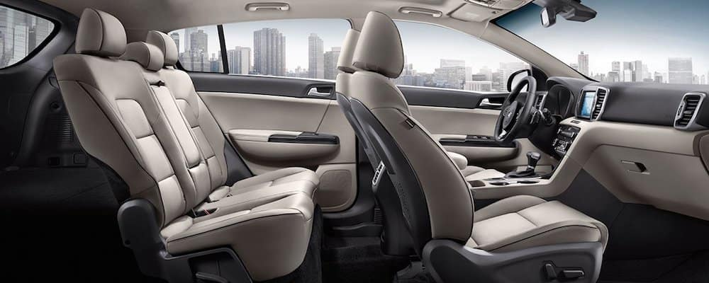 2019 sportage wide interior view