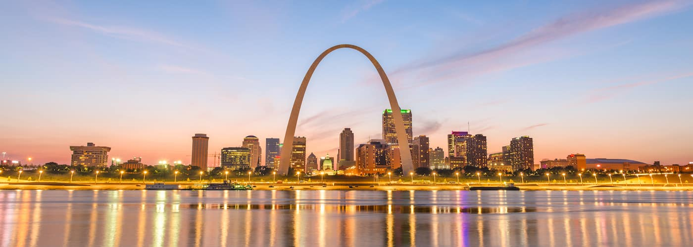 st. louis arch and city skyline