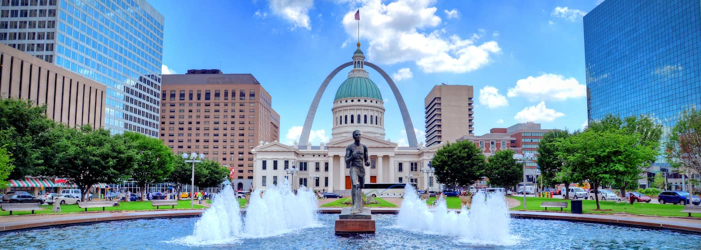 keiner plaza and gateway arch in st louis