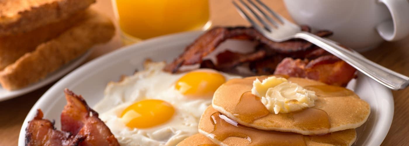 Full Plated Breakfast on Table