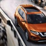 2019 nissan rogue driving on highway