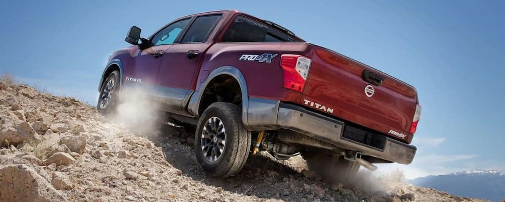 2018 titan driving on rocks