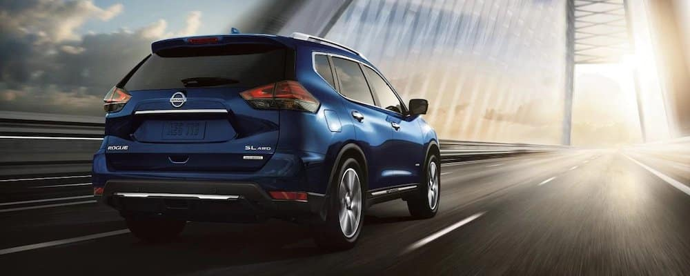 Blue 2019 Nissan Rogue on Bridge