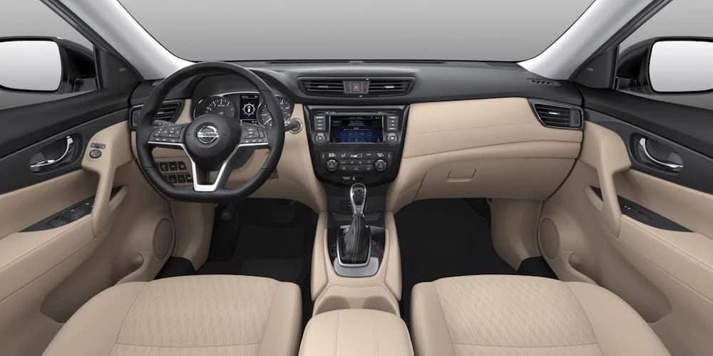 Almond Cloth Nissan Rogue Interior