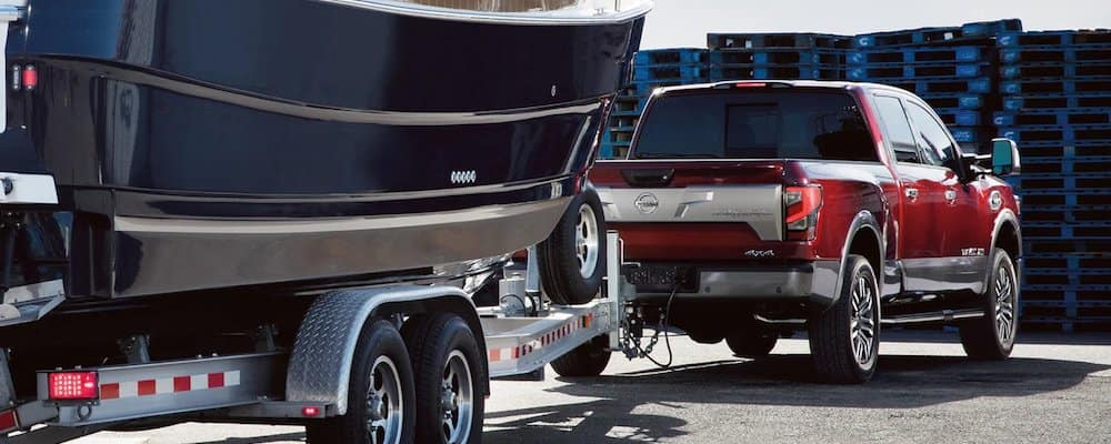 2020 Nissan Titan Towing Boat