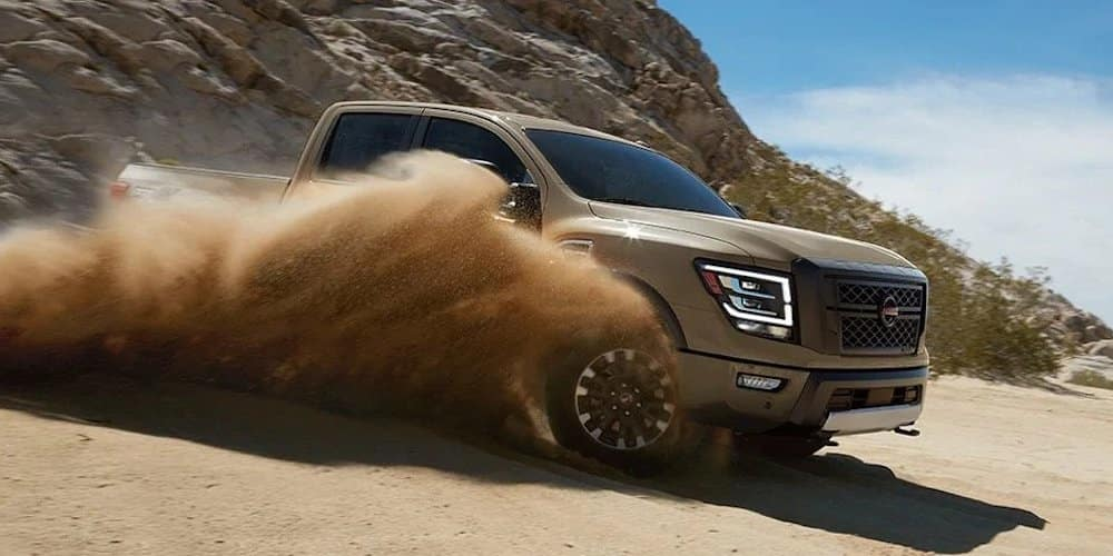 2020 Nissan Titan on Sand