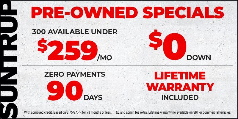 Pre-Owned Vehicles Lifetime Warranty