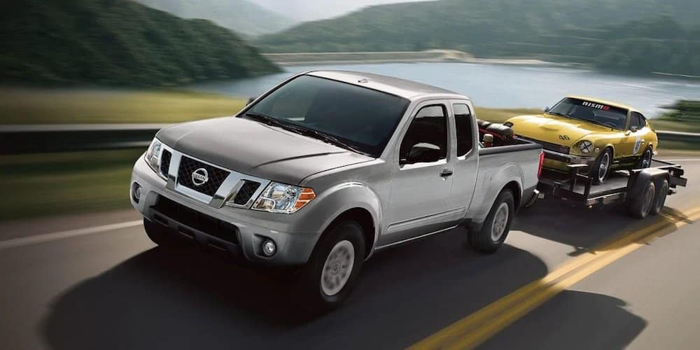 Silver 2019 Nissan Frontier Towing