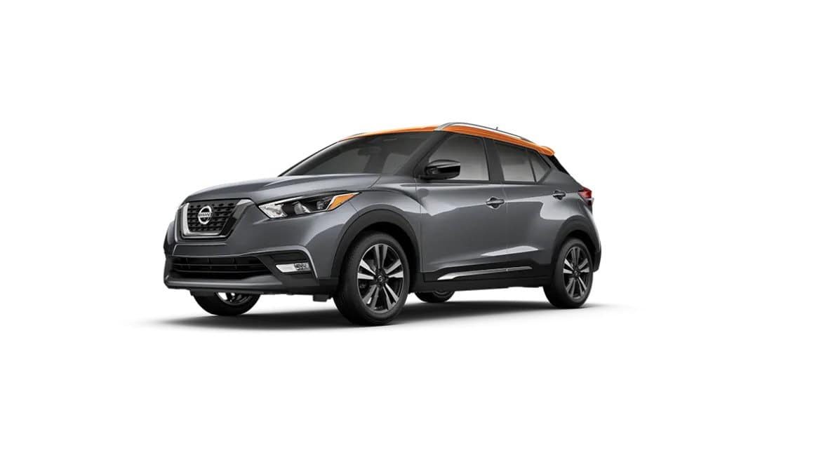 2020 Nissan Kicks Gun Metallic Monarch Orange Metallic