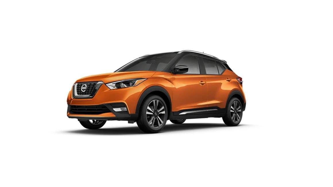 2020 Nissan Kicks Monarch Orange Metallic Black Roof