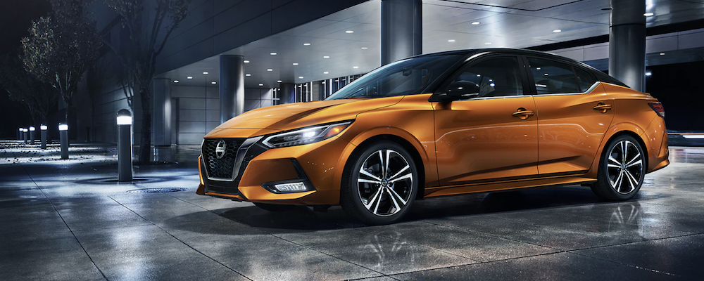 Orange 2021 Nissan Sentra