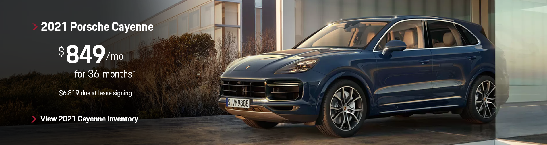 2021 Porsche Cayenne Lease Offer