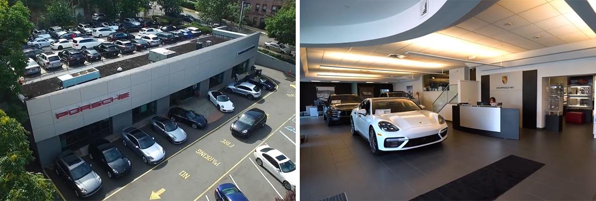 Town Porsche Dealership Showroom