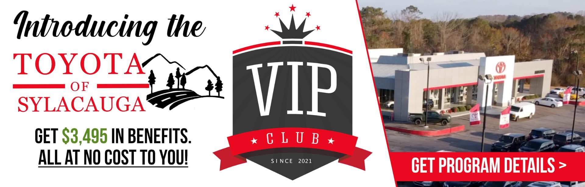 VIP homepage slide