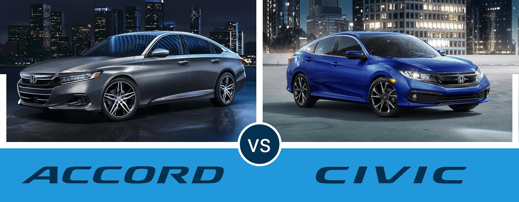 Honda Accord Versus Honda Civic Slider