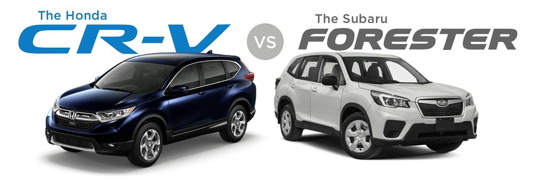 Honda CR-V Versus Subaru Forester Slider