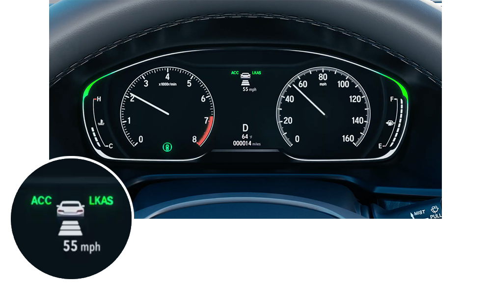 Honda Adaptive Cruise Control Instrument Panel Icon