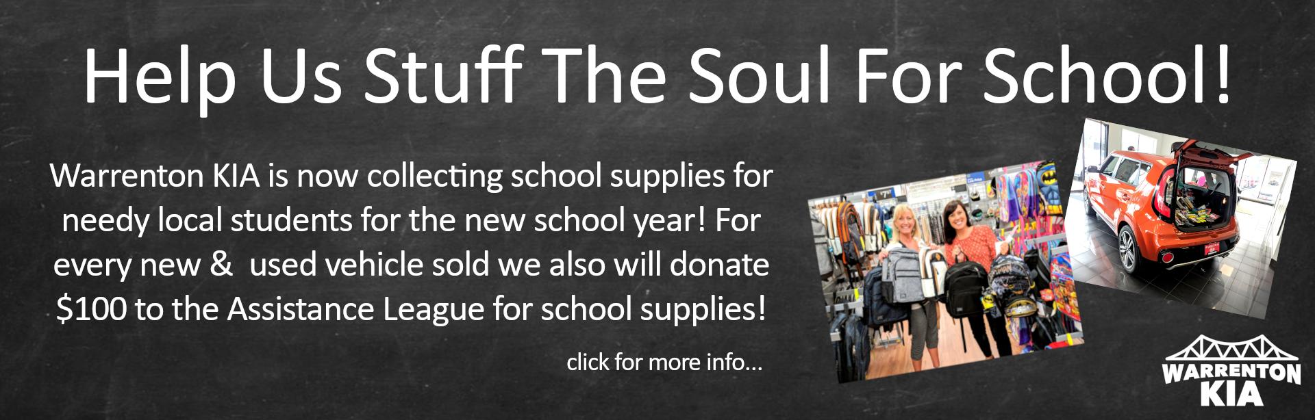 Stuff the Soul for School