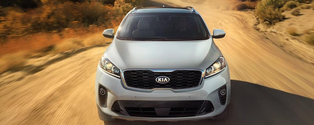 2019 Kia Sorento AWD driving down desert highway