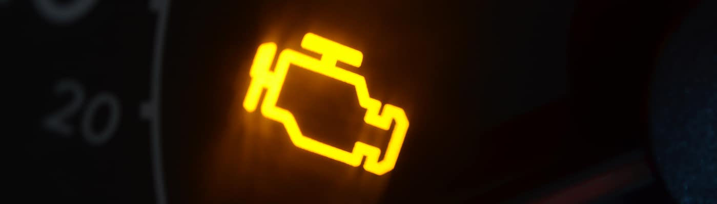 Yellow check engine light symbol