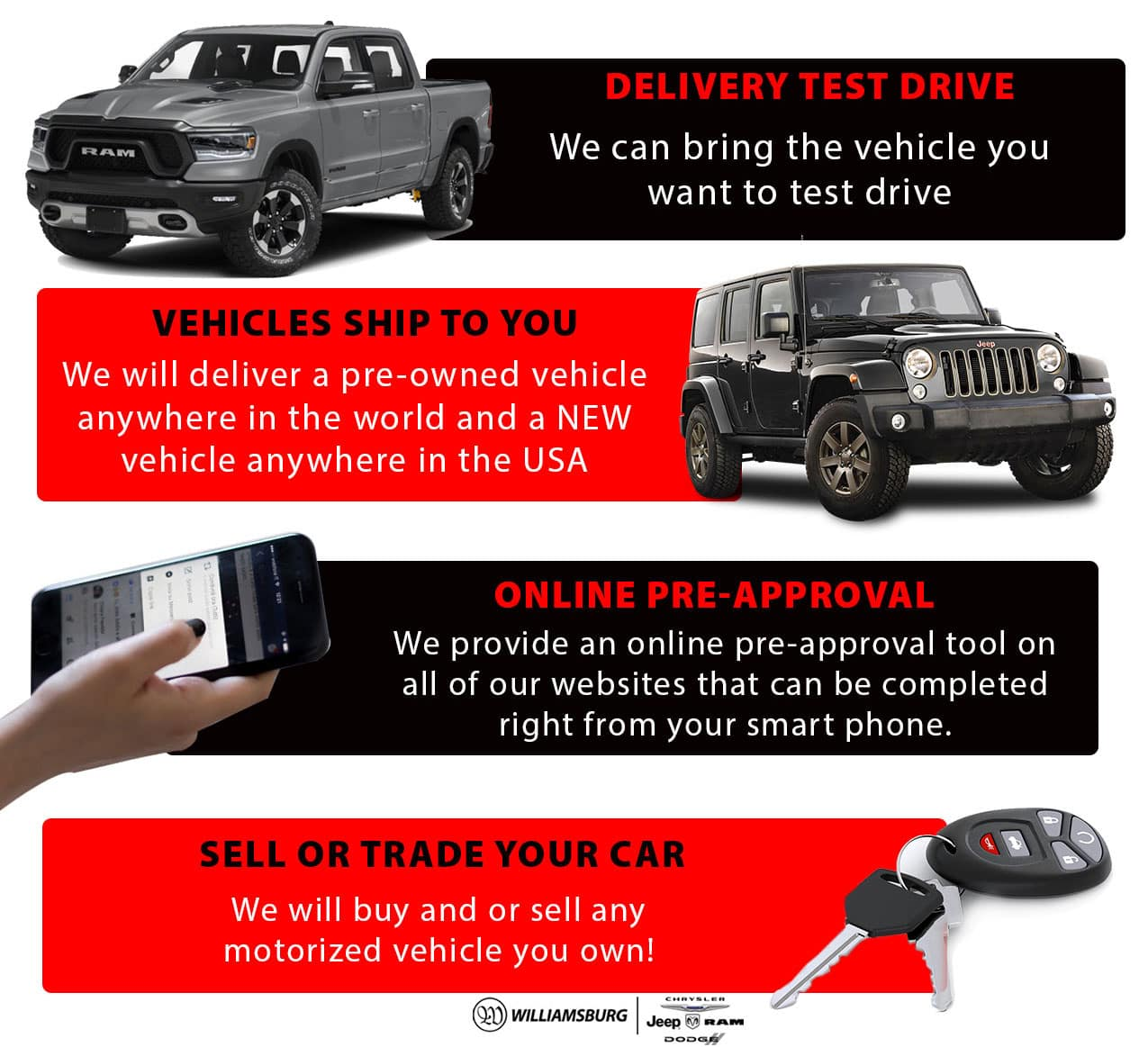 Williamsburg Way - Delivery Test Drive, Vehicles Ship To You, Online Pre-Approval, Sell or Trade Your Car