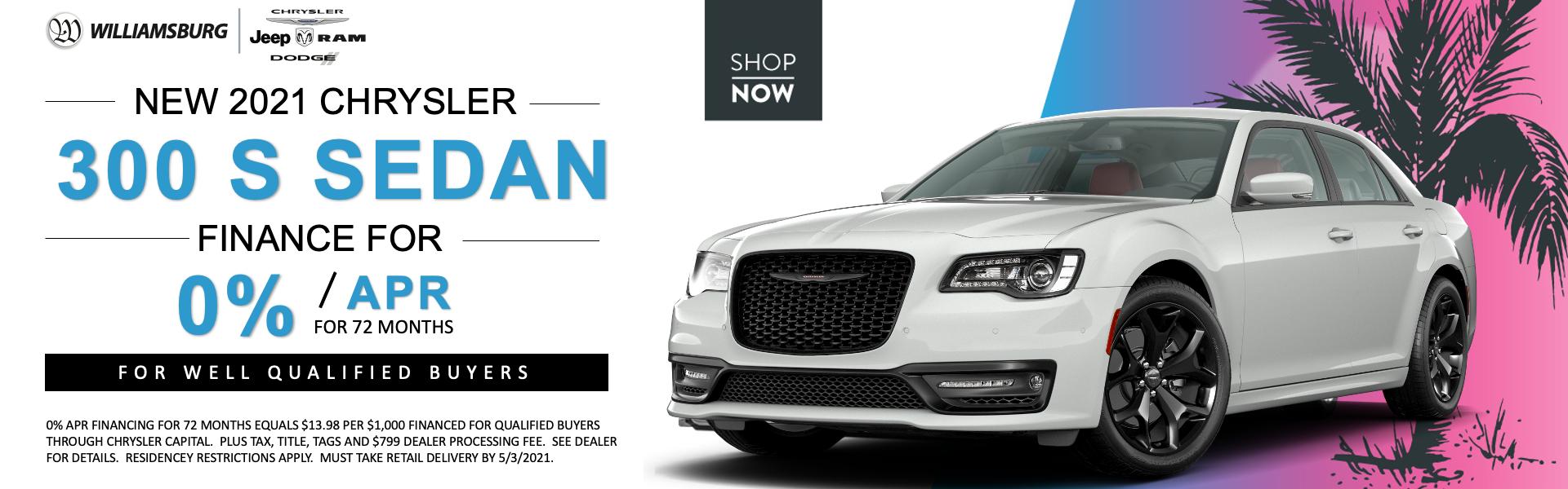 2021 Chrysler 300 April Offer