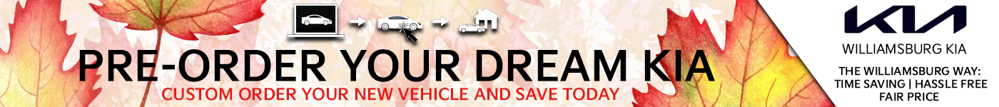 Pre-Order your dream Kia