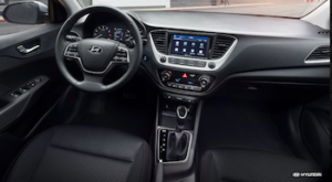 2019 Hyundai Accent dashboard