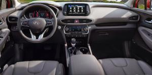 2019 Hyundai Santa Fe Dashboard