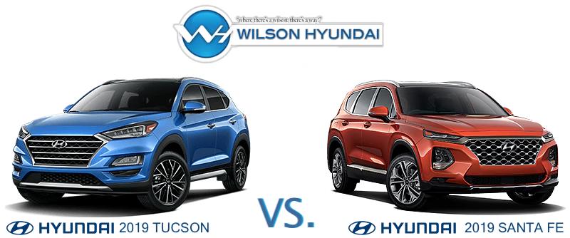 Hyundai Tucson Santa Fe comparison