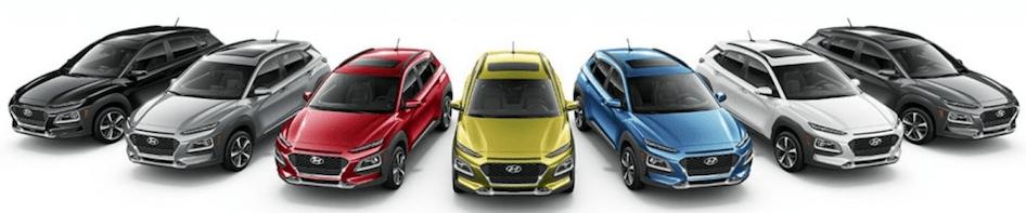 Hyundai Kona Color Options