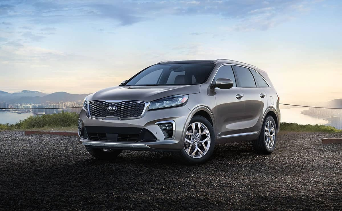 2019 Kia Sorento parks in field