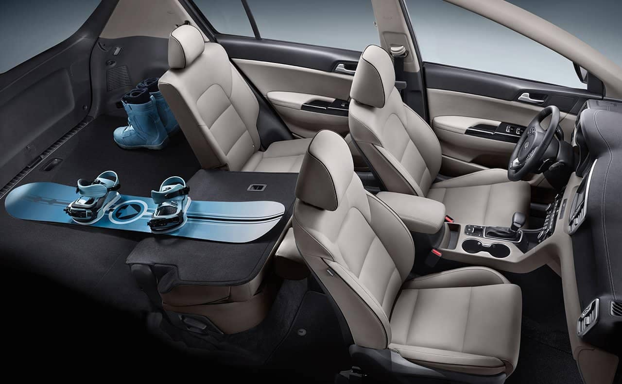 rear folding seats and cargo space in 2019 Kia Sportage