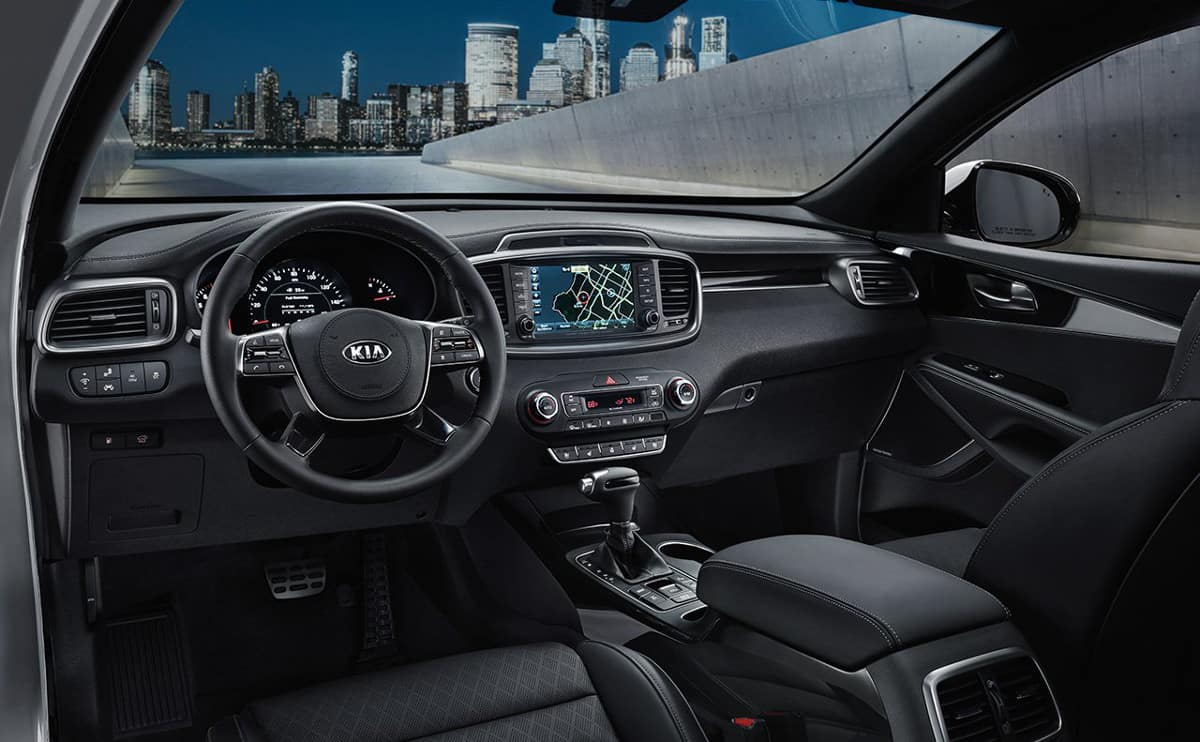 interior cabin of 2019 Kia Sorento