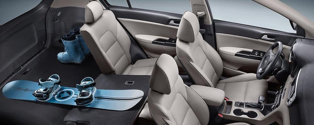 2019 sportage interior with folded seats