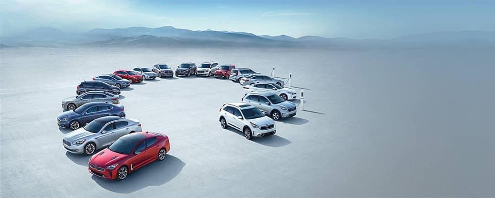 Kia lineup of vehicles