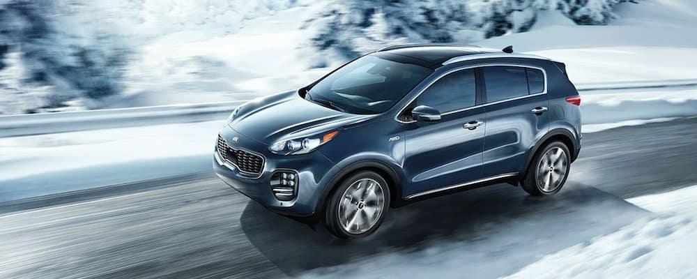 2019 sportage driving on snowy road