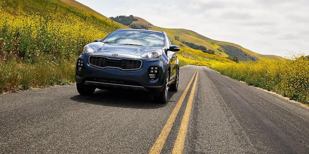 2019 sportage driving on highway through hills