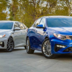 2019 Kia Optima Models Parked Outside