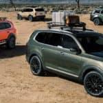 Kia Telluride Models in Desert